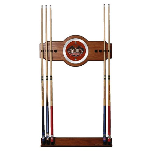 Brown University Wood and Mirror Wall Cue Rack - Game Room Products Billiards NCAA - Colleges Billiard Cue Rack