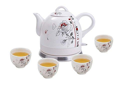 Teapot, Ceramic, W/Electronic Heat Plate 12025