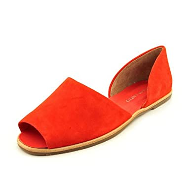 Amazon.com: Franco Sarto Venezia Womens Size 6 Red Peep Toe Suede