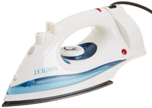 Jerdon J913W Iron with Dual Auto Off, Retractable Cord