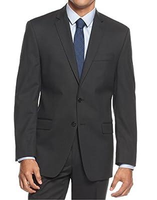 Calvin Klein Slim Fit Black Tonal Stripe New Men's Blazer