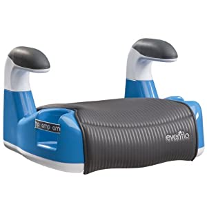 Evenflo Amp Performance No Back Booster Car Seat, Blue