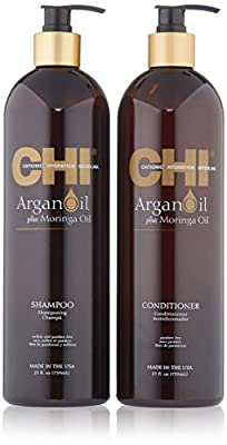 CHI Argan Oil Shampoo 25oz & Argan Oil Conditioner 25oz Kit