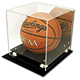 NBA / NCAA Deluxe Acrylic Basketball Display Case With Mirror