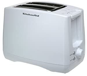 KitchenAid KTT340WH 2-Slice, Two-Slot Digital Toaster with Bagel and Warm Functions, White