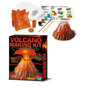 how to make a volcano model erupt for school project