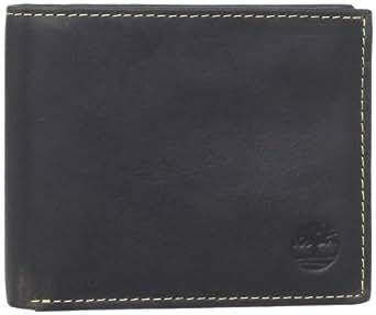 Timberland Men's Cow Crunch Passcase Wallet, Dark Brown