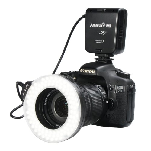 Aputure Ringblitz Ring Licht Blitz für Canon EOS D3000 D3100 D5000 D5100 D7000 D700 450D 500D 550D 1100D 1000D 7D 3DX 5D400D 350D 600D 60Da 5D 8D 10D 20D 30D 40D 50D Blitzgerät
