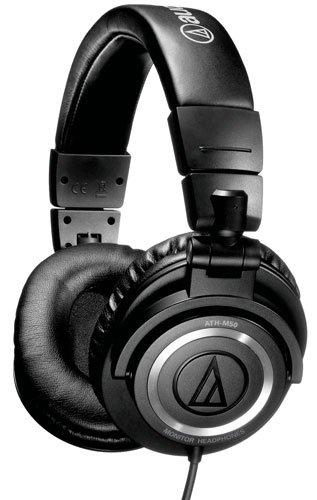 audio technica ath m50 professional studio monitor headphones musical instruments. Black Bedroom Furniture Sets. Home Design Ideas