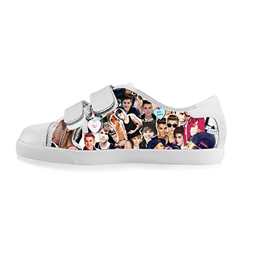 TD^^MM Custom Star Justin Bieber Boy's Canvas Shoes Footwear Sneakers Flat Shoes (Justin Bieber Shoes For Boys compare prices)