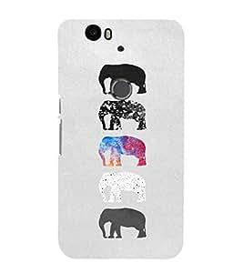 EPICCASE Elephant Design Mobile Back Case Cover For Huawei Nexus 6P (Designer Case)