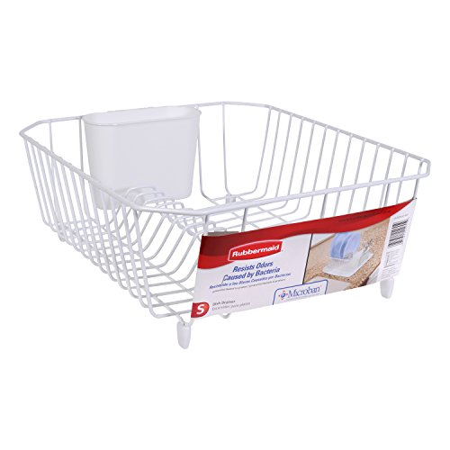 rubbermaid antimicrobial dish drainer small white new ebay. Black Bedroom Furniture Sets. Home Design Ideas