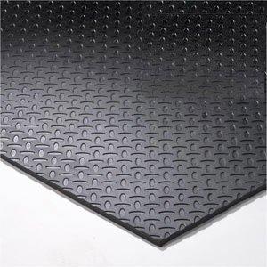12 39 x 12 39 gym flooring kit black virgin for Hard vinyl floor tiles