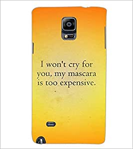 PrintDhaba Quote D-4407 Back Case Cover for SAMSUNG GALAXY NOTE 2 (Multi-Coloured)