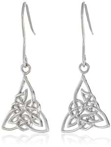 Sterling Silver Celtic Knot Triquetra Dangle Earrings