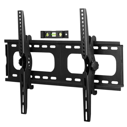 Designer Habitat PREMIUM TV Wall Mount for 33 – 60 inch LCD, LED, or Plasma Flat Screen TV – Super-strength Load Capacity 165lbs – 15 Degree Tilt Mechanism Up & Down, Max VESA 660×450 – Free Bubble Level