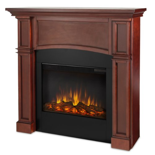 Real Flame Bradford 7600-X-P Slim Line Electric Fireplace In Dark Mahogany - Mantel Only