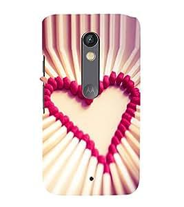 printtech Matchstick Love Heart Back Case Cover for Motoroal Moto X Play