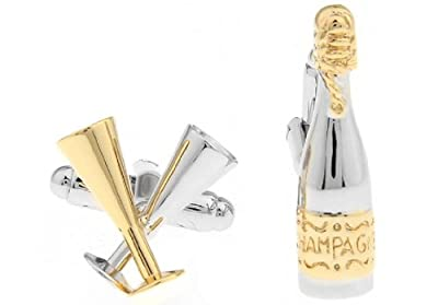 LBFEEL Champagne Cufflinks for Mens Jewelry Box Design with Box