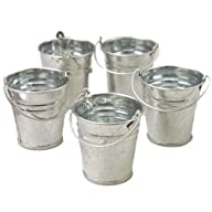 Mini Metal Buckets,Pack of 12