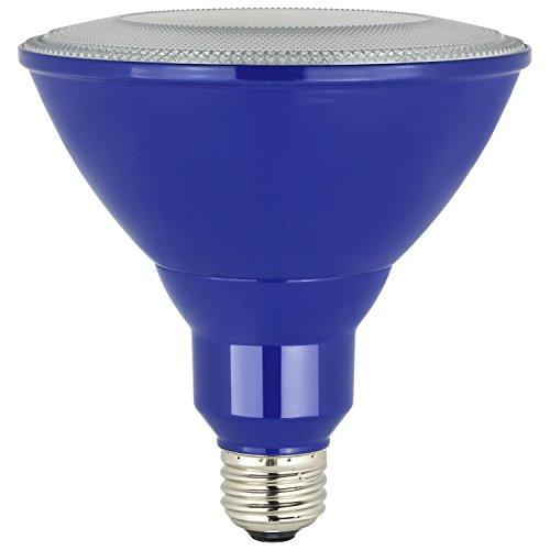 Sunlite PAR38/LED/8W/B LED PAR38 Colored Reflector Light Bulb, Blue
