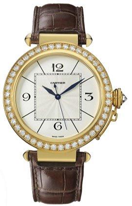 Cartier Pasha Diamond 18kt Yellow Gold Mens Watch WJ118851