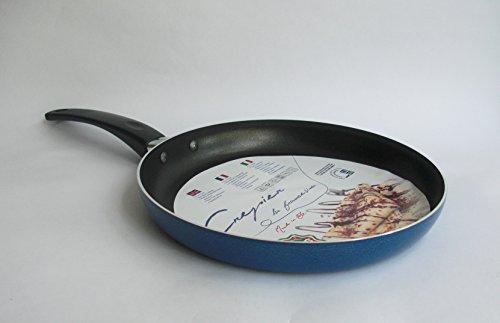 Aluminium Pancake/Crepe Frying Non-Stick Pan - 22 / 24 cm (22 cm)