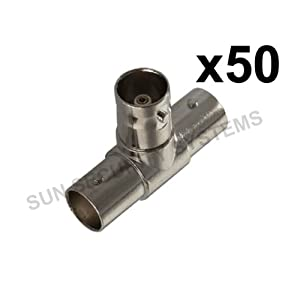 BNC T Piece Junction Connector 1 Female to 2 Female x50