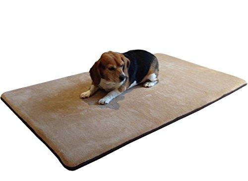 Jumbo-Memory-Foam-Coral-Fleece-Pet-Dog-Bed-Mat-pillow-Mattress-Topper-75X38-Super-Large-Twin-size