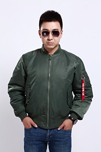 Seibertron Men's MA-1 Bomber Flight Waterproof/Water Repellent Jacket 2