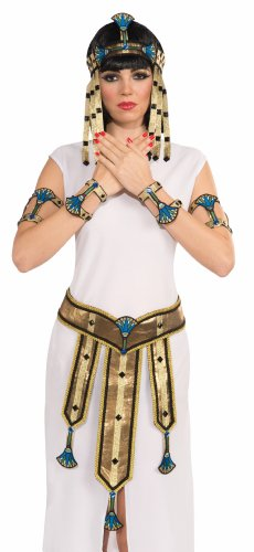 Deluxe Pair Egyptian Female Costume Wrist Cuffs Adult