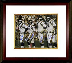 Alan Page signed Minnesota Vikings 16x20 Photo Custom Framed- 4 signatures by Athlon Sports Collectibles