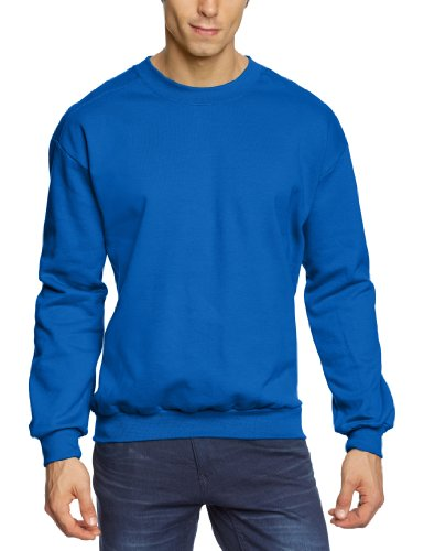 Anvil - Felpa, regular fit, collo rotondo, manica lunga, uomo, Blu (Blau (RYL-Royal Blue)), XXX-Large