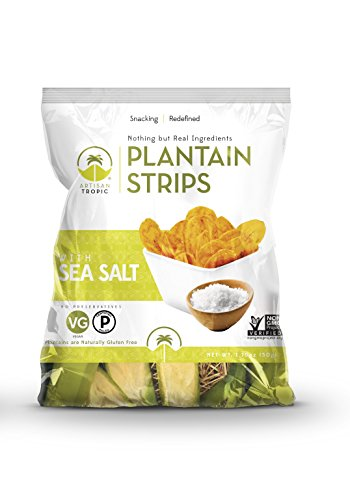 artisan tropic gluten free plantain strips with sea salt