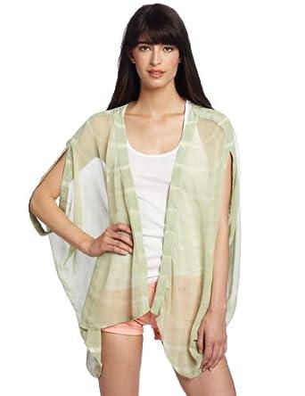 Gypsy 05 Women's Cora Print Tye-Dye Kimono Jacket, Sage, Small