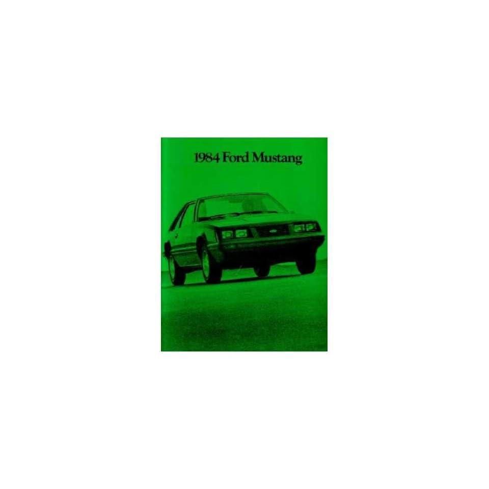 1984 Ford Mustang Sales Brochure Literature Book Piece Dealer Advertisement