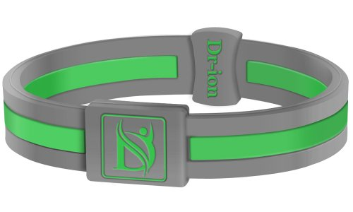 Negative Ion Health Wristband (Grey/Green) Negative