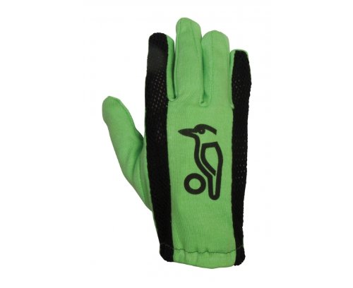 Kookaburra Full Glove Cricket Batting Inner - Green/Black, Men's