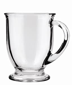 Anchor Hocking Cafe Mug Beverage Set, 16-Ounce, 6 Count by Anchor Hocking