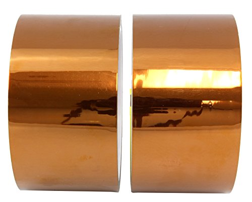 (2-Pack) 1 Mil Hi-Temp Kapton Tape; 2 Roll Set of Polyimide Film Tape for 3D Printing, Soldering, Insulating Circuit Boards & More! (2 Inch) (Pc Board Etching compare prices)
