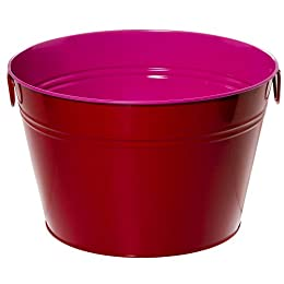 Whim by Cynthia Rowley Steel Beverage Tub - Pink/ Red