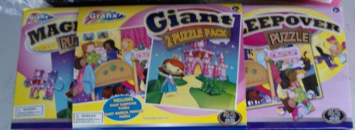 Grafix Princess Puzzle 2 Pack Bedroom and Castle