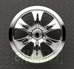 Velocity 6 1/2 Offset Wheel, Chrome (2): TMX