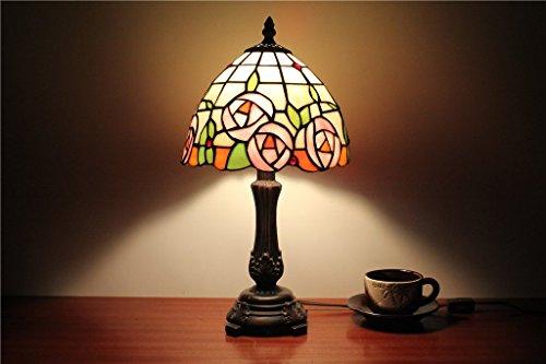 DELLT-8-Zoll-Gartenrosen-Lampe-amerikanischen-Landhausstil-Tischlampe-Schlafzimmerlampe-Studie-Tischlampe