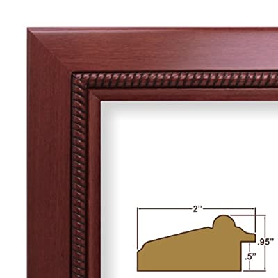 16x23 Custom Picture Frame / Poster Frame 2 Wide Complete Cherry Wood Frame (8939)