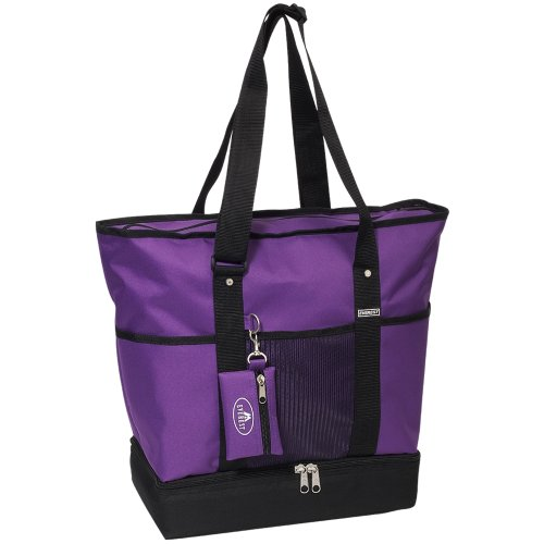 everest-luggage-deluxe-shopping-tote-dark-purple-black-dark-purple-black-one-size