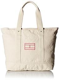Tommy Hilfiger Item Tote - Canvas Tote Handbag Natural