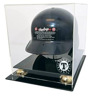 Texas Rangers Full Size Batting Helmet Display by Caseworks