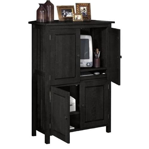 Amazing Amazoncom Sauder Computer Armoire Cinnamon Cherry Finish Kitchen.