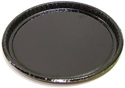 Solut 63655 Black Elegance Corrugated Paperboard Retail Food Serving Platter, 12'' Diameter (Case of 50)